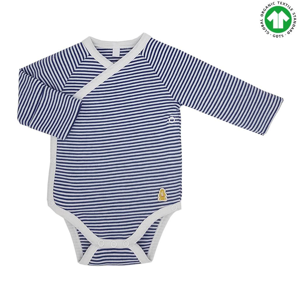 Long Sleeved Kimono Baby Bodysuit Organic Baby Boutique